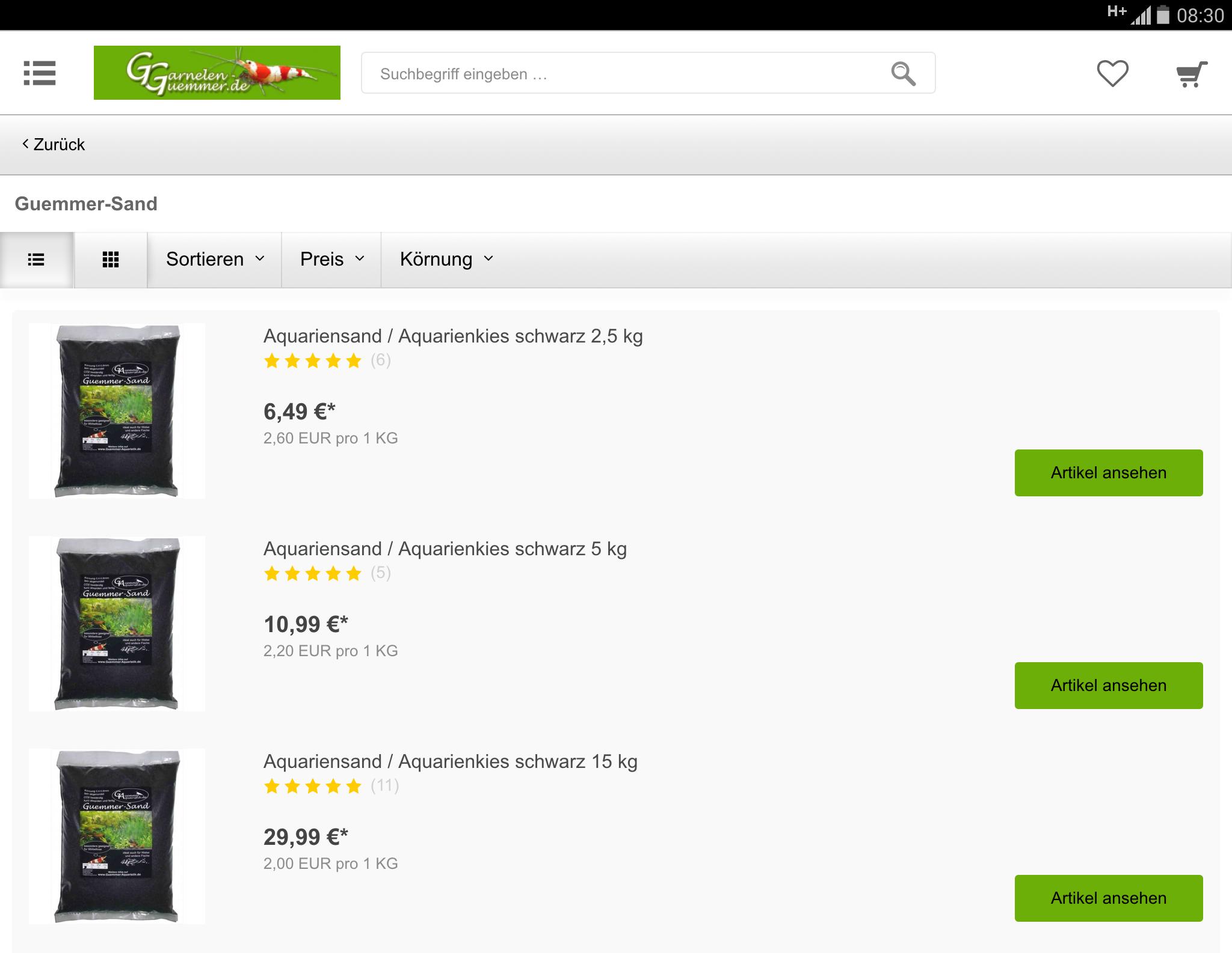 garnelen guemmer app garnelen guemmer app garnelen kaufen im garnelen shop. Black Bedroom Furniture Sets. Home Design Ideas