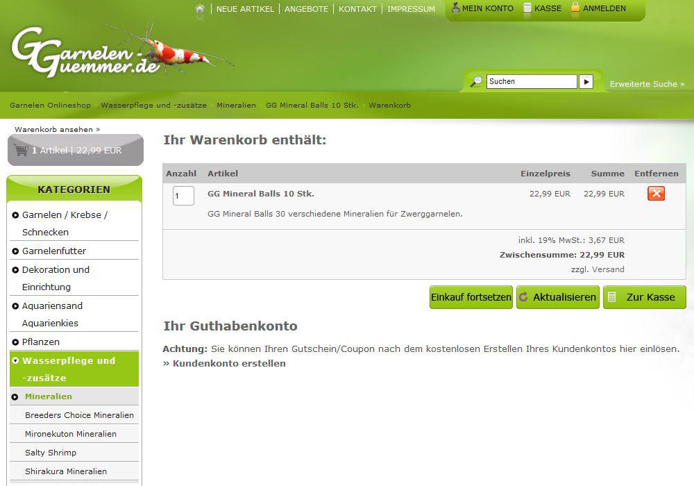 Gutscheine - Gutscheine und Coupons einlösen im Garnelen Onlineshop ...